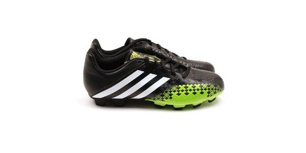 Pánské černo-zelené kopačky Adidas