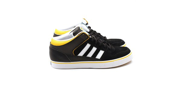 Pánské černé tenisky se žlutými detaily Adidas