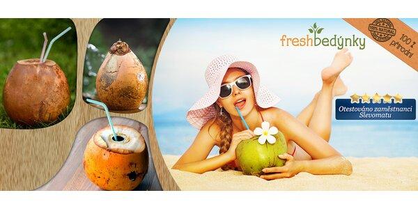 3 nebo 5 čerstvých mladých kokosů – exotický nápoj!