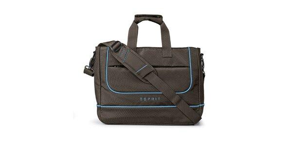 Hnědá taška na notebook Esprit
