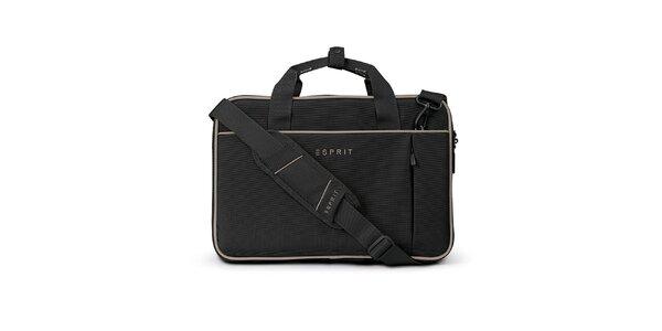 Černá taška na notebook Esprit
