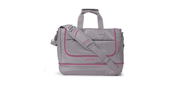 Šedá taška na notebook Esprit