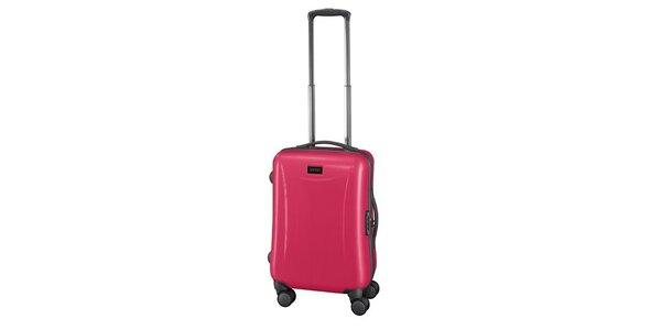 Růžový příruční kufr na kolečkách Esprit