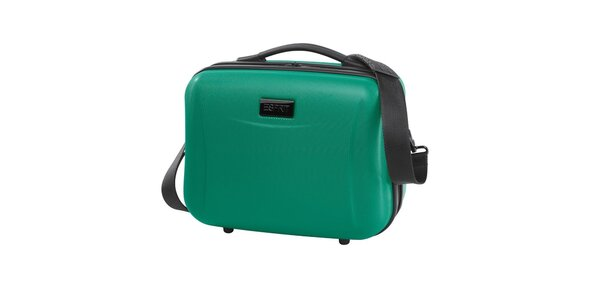 Cestovní kosmetický kufřík v zeleném provedení Esprit