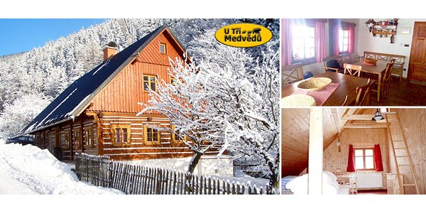 Roubená chata v Krkonoších až pro 21 přátel