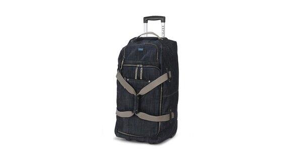 Džínová cestovní taška na kolečkách Esprit