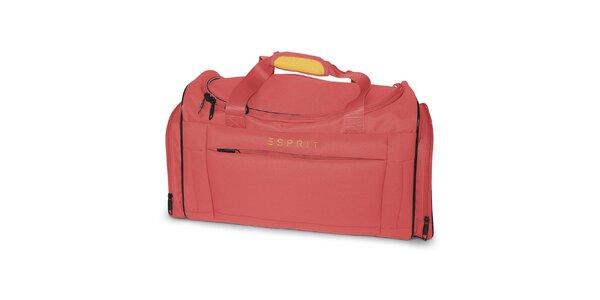 Malá cestovní taška v korálové barvě Esprit