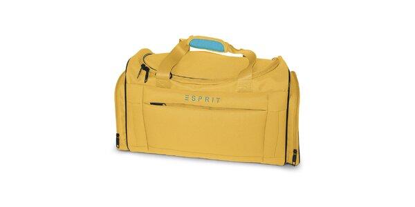 Malá cestovní taška ve žluté barvě Esprit