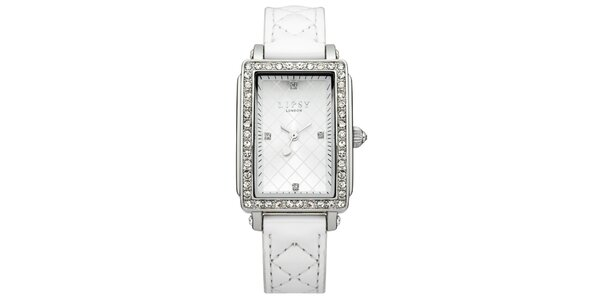 Dámské bílé hodinky s obdélníkovým ciferníkem Lipsy