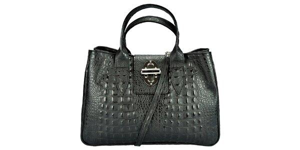 Dámská krokodýlí černá kabelka Giulia