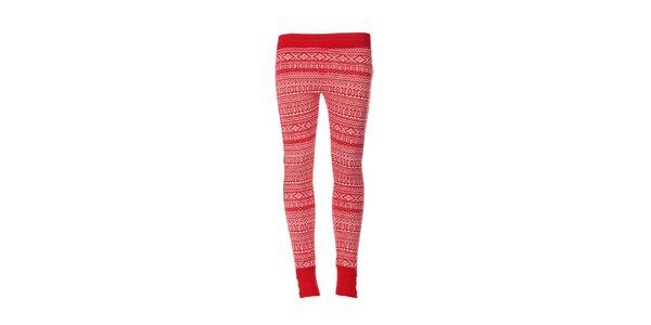 Dámské legíny značky DKNY v červené barvě