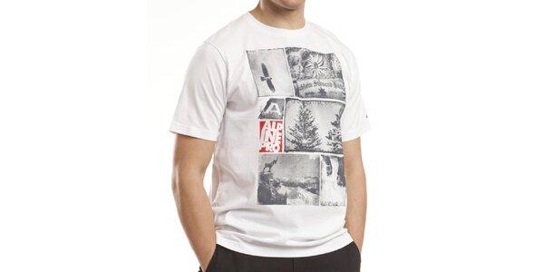 Pánské bílé bavlněné tričko Alpine Pro
