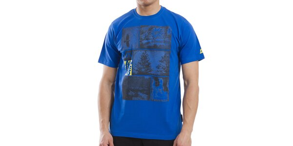 Pánské modré bavlněné tričko Alpine Pro
