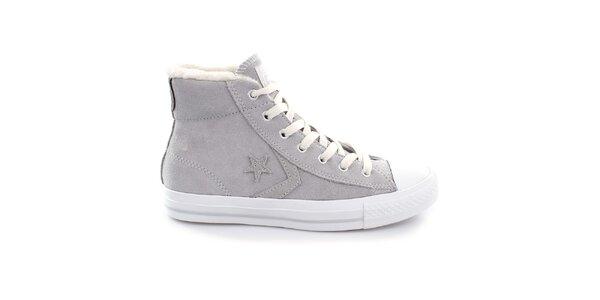 Šedé kotníkové boty Converse