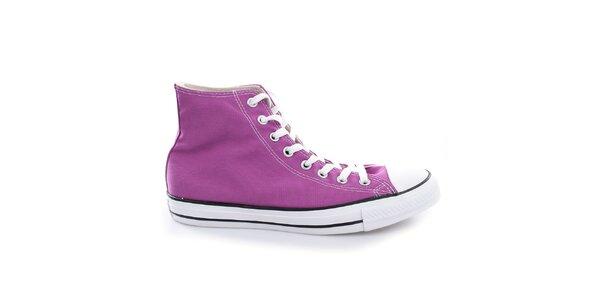 Fialové plátěné boty Converse