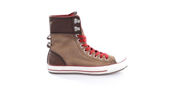 Dámské hnědé kotníkové boty Converse