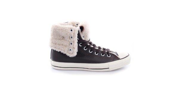 Dámské kotníkové boty s kožíškem Converse