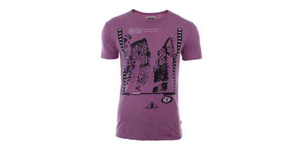 Pánské fialové tričko River Rock