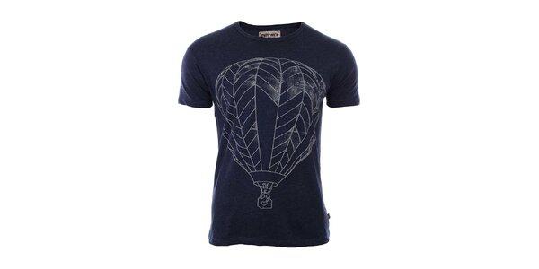 Pánské tmavě modré tričko s potiskem River Rock
