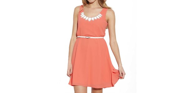 Dámské oranžové šaty na ramínka Angel Eye