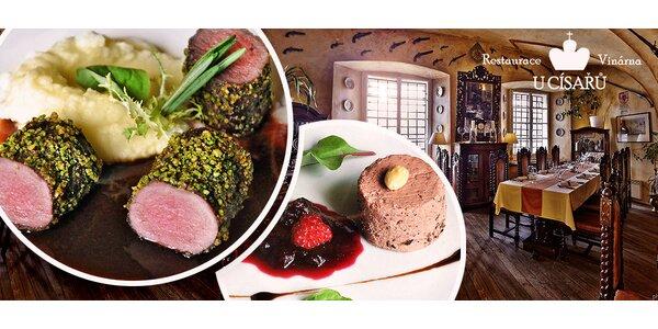 Zvěřinové menu pro dva v restauraci U Císařů