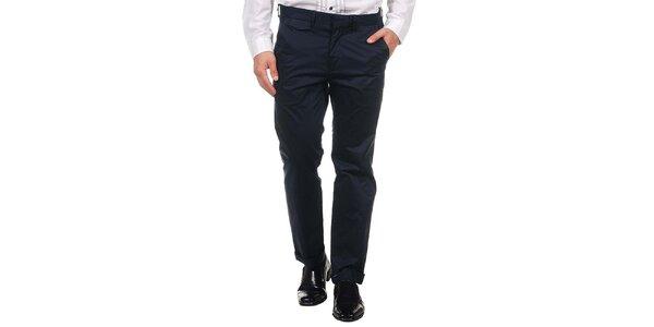 Pánské tmavě modré společenské kalhoty Calvin Klein
