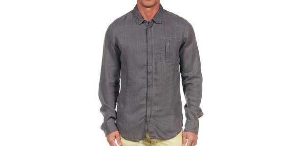 Pánská tmavě šedá košile Calvin Klein
