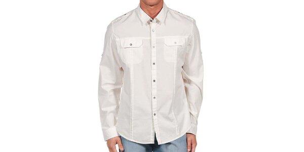 Pánská bílá košile s kapsami Calvin Klein