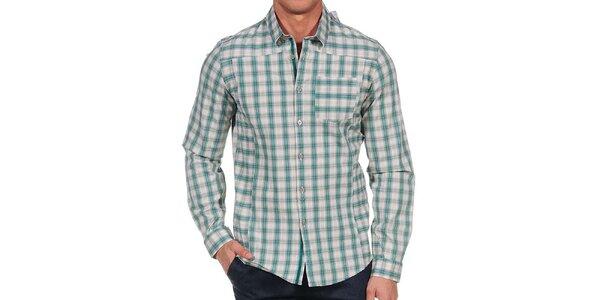Pánská zelená kostkovaná košile Calvin Klein