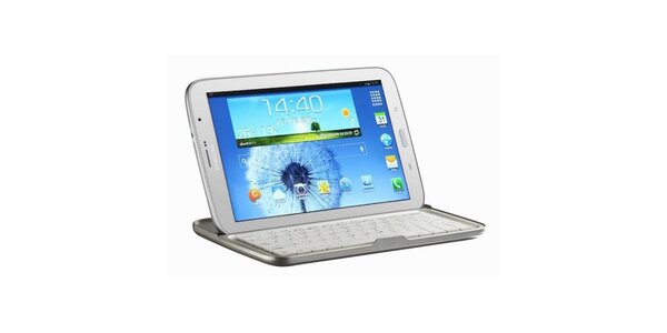 Hliníkové pouzdro pro Samsung Galaxy Tab s klávesnicí