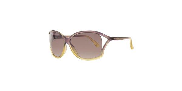 Dámské fialovo-žluté sluneční brýle Michael Kors