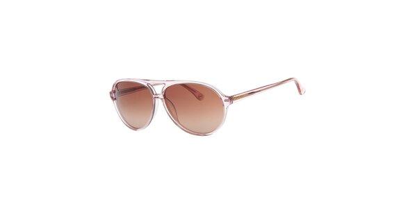 Dámské světle růžové sluneční brýle Michael Kors