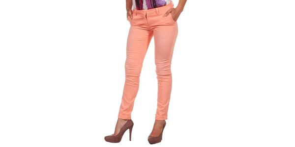 Dámské pastelově oranžové džíny Calvin Klein