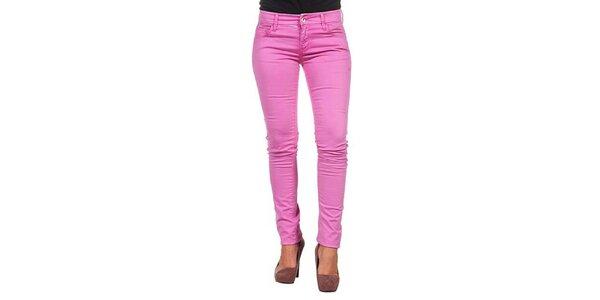 Dámské úzké růžové kalhoty Calvin Klein