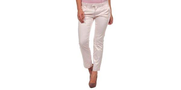 Dámské světle růžové lesklé kalhoty Calvin Klein