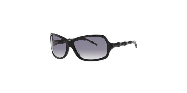 Dámské černé sluneční brýle Michael Kors s ozdobnými stranicemi