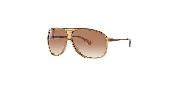 Pánské světle hnědé sluneční brýle Michael Kors