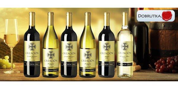 Výběr 6 chilských vín značky Creación