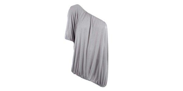 Dámské šedé triko s jedním rukávem Pietro Filipi