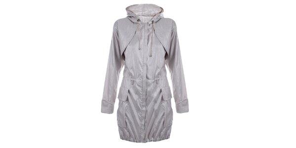 Dámský světle šedý kabát Pietro Filipi
