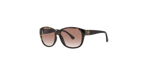 Dámské tmavě hnědé želvovinové sluneční brýle Michael Kors