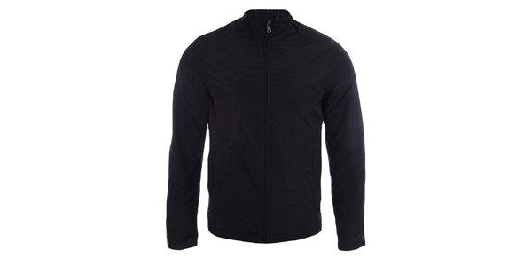 Pánská černá bunda na zip Pitro Filipi