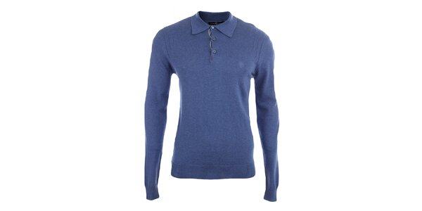 Pánský modrý svetr s límečkem Pietro Filipi