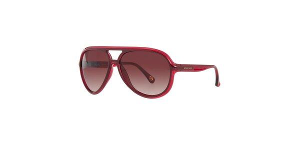 Dámské vínové sluneční brýle Michael Kors