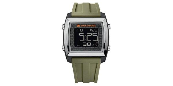 Pánské hodinky s olivově zeleným řemínkem Hugo Boss Orange
