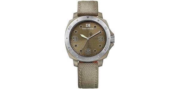 Dámské analogové khaki hodinky Hugo Boss Orange