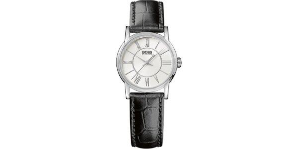 Dámské kulaté analogové hodinky s koženým řemínkem Hugo Boss Orange