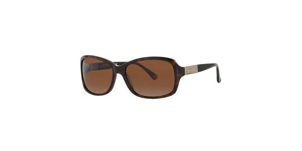 Dámské tmavě hnědé žíhané sluneční brýle Michael Kors