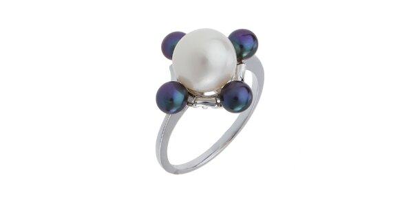 Dámský stříbrný prsten s velkou bílou perlou Orchira