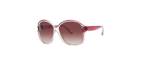 Dámské transparentní sluneční brýle Michael Kors s růžovými detaily